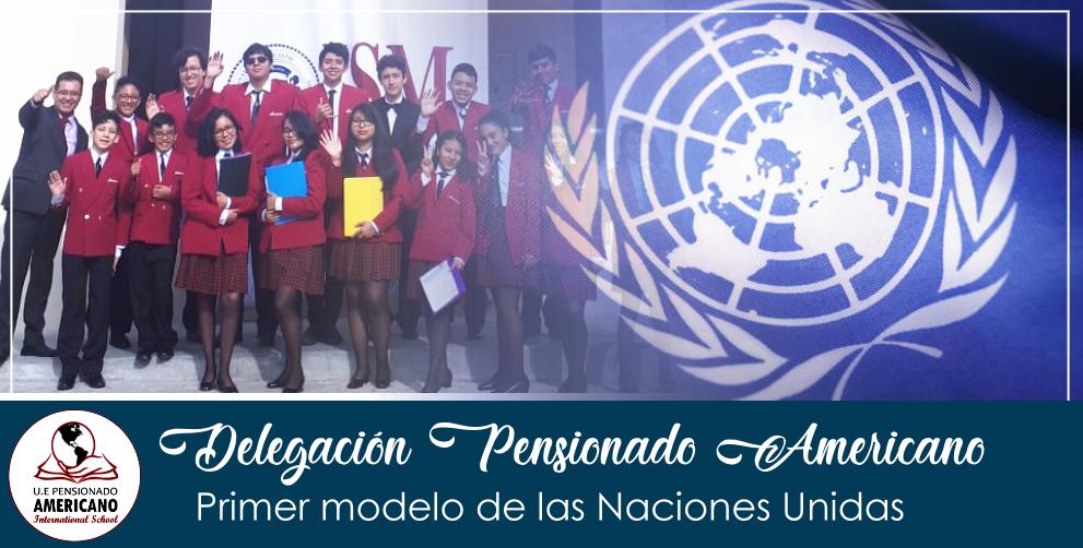 Participación de la delegación de la Unidad Educativa pensionado Americano International School